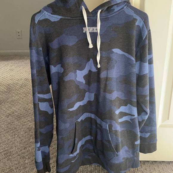 Victoria's Secret blue camo Sherpa hoodie